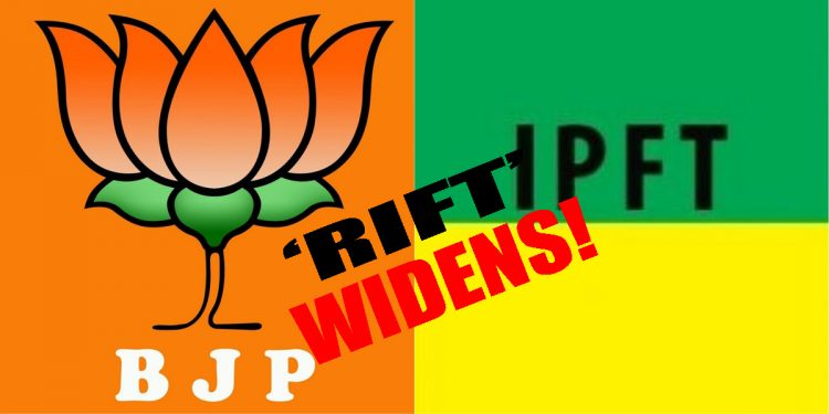 Tripura: 'Rift' in BJP-IPFT alliance widens! BJP tribal leaders 'not interested' in alliance with IPFT for TTAADC elections 1