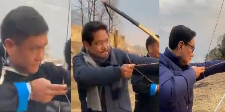 Meghalaya CM Conrad Sangma, Arunachal Pradesh CM Pema Khandu & Kiren Rijiju try hand in archery 1
