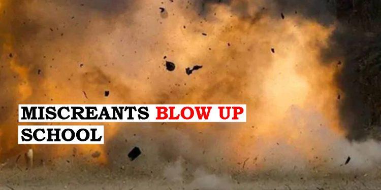 Miscreants blow up school at Hailakandi near Assam-Mizoram border 1
