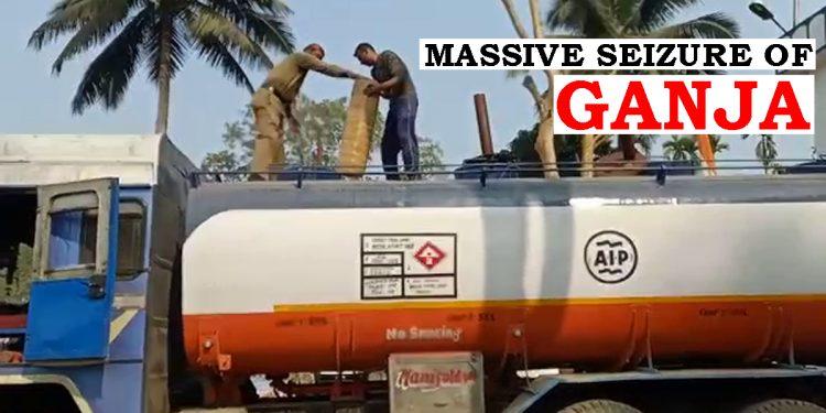 Police seize ganja worth Rs 1.2 crore transported in oil tanker from Assam-Tripura border 1