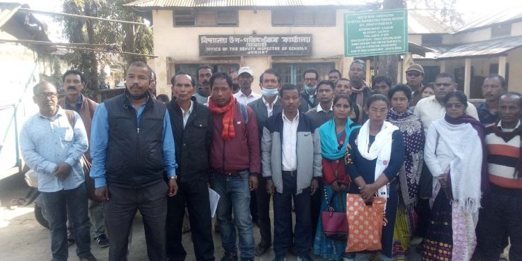 Assam: Provincialised senior ME school teachers stage protests in Upper Assam districts against appointment anomalies