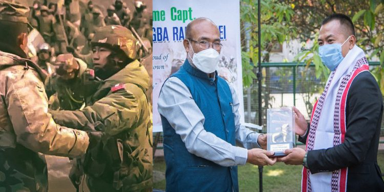 Manipur CM Biren Singh felicitates Captain SM Rangnamei for bravery at Galwan Valley 1