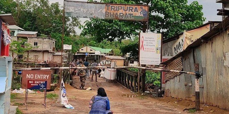Tripura-Mizoram border.