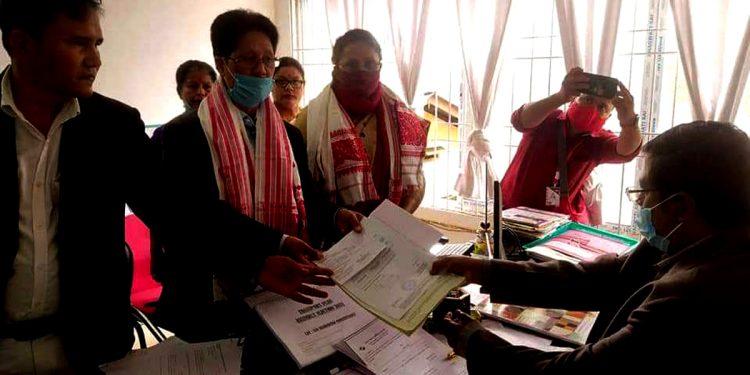 Assam Assembly elections: Congress veteran Bharat Narah files nomination from Naoboicha 1