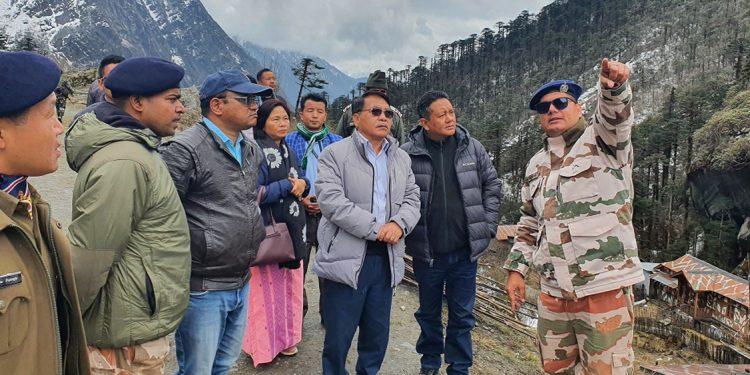 Arunachal Pradesh Speaker Pasang D Sona visits Indian outpost along India-China border 1