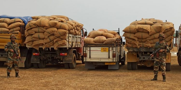 Mizoram: Illegal areca nut consignment worth over Rs 1.26 crore seized by Assam Rifles 1