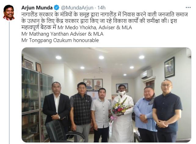 Minister Temjen Imna Along-led Nagaland delegation meets Union tribal affairs minister Arjun Munda 1