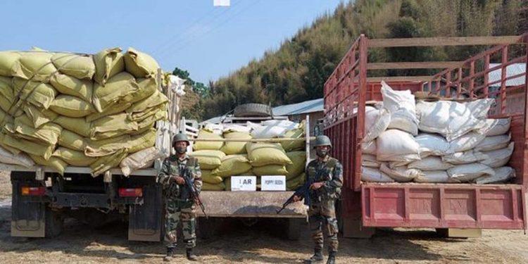 Assam Rifles seizes truckloads