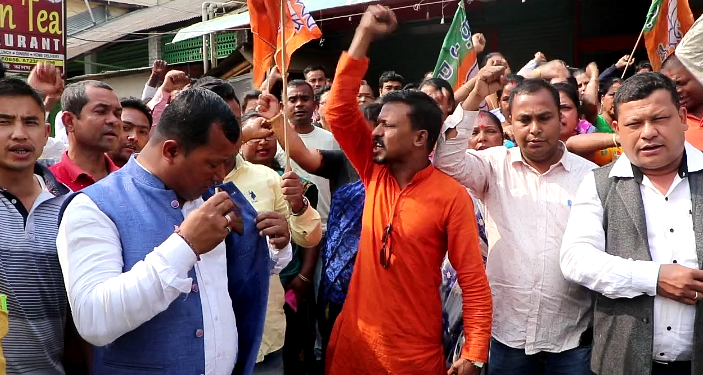 Baruah's supporters took to the streets at Lahowal in upper Assam's Dibrugarh district demanding a ticket for the MLA.