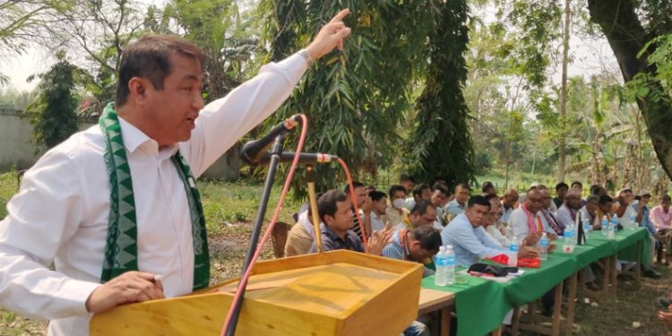 Addressing a public rally as part of BPF's Assam Assembly election campaign at Tamulpur on Tuesday, Kachari said that the BJP never keeps promises made to the people.
