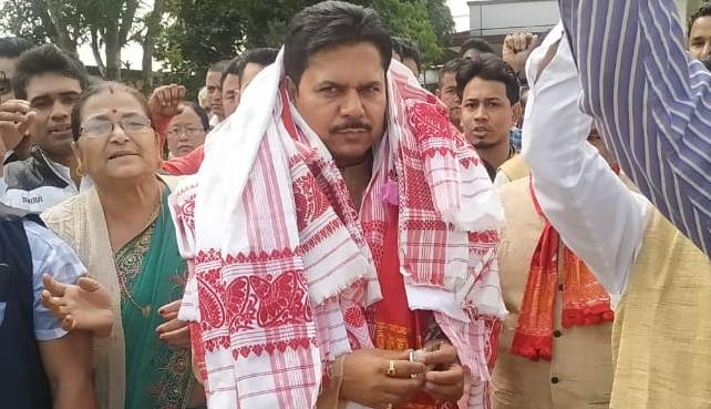 AICC general secretary and two-time Congress MLA Bhupen Bora filed his nomination before the District Returning Officer at North Lakhimpur.