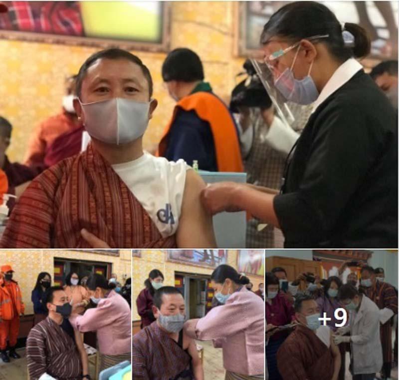 Bhutan PM Lotay Tshering, Cabinet ministers take COVID19 vaccine 4