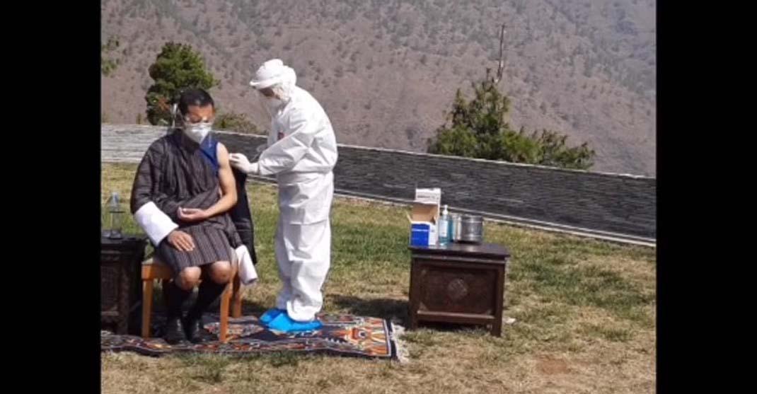 Bhutan PM takes COVID19 vaccine