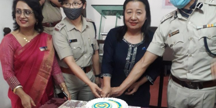 Dimapur police celebrates International Women's Day at Dimapur Deputy Commissioner of Police, Zone II, on Monday.