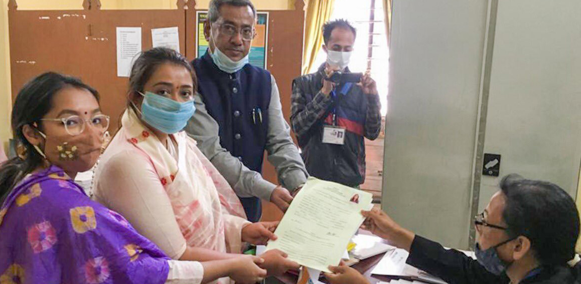 Assam Assembly elections: Congress leader Angkita Dutta files nomination from Amguri constituency 2