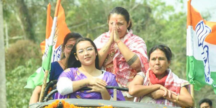 Assam Assembly elections: Congress leader Angkita Dutta files nomination from Amguri constituency 1