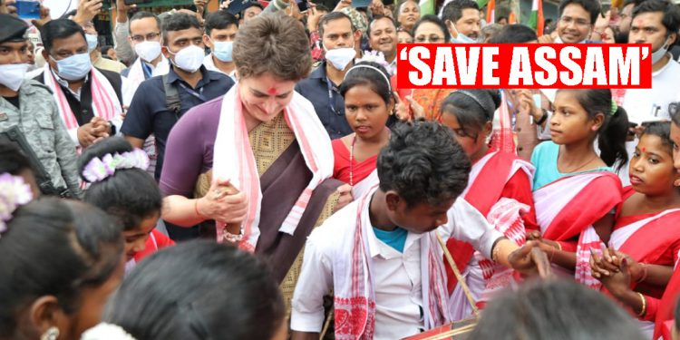Youngsters, vote to save Assam this time: Congress leader Priyanka Gandhi in Lakhimpur 1