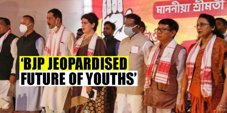 Congress leader Priyanka Gandhi launches unemployment protest in Assam 1