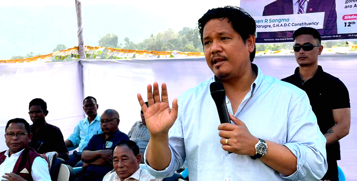 Meghalaya: CM Conrad Sangma on hectic campaign trail for GHADC elections 1