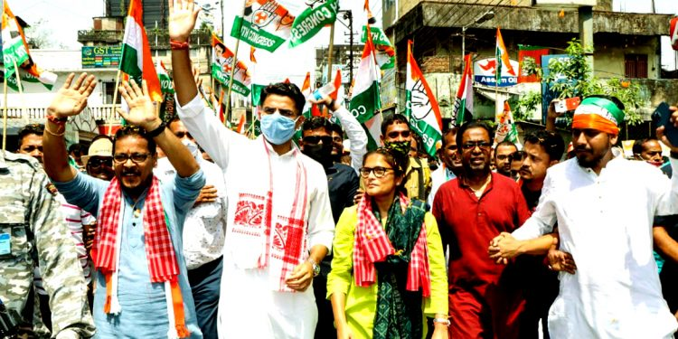 Sea of people throng Silchar streets, Congress star campaigner Sachin Pilot says Assam youth need jobs 1