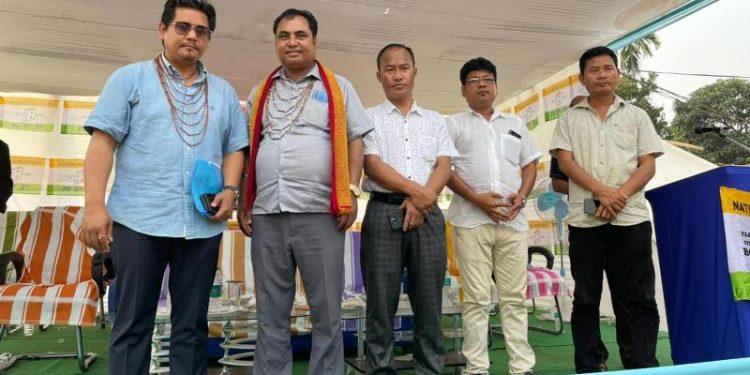 Chief minister Sanmga on Monday campaigned for incumbent GHADC CEM Marak at Garobadha, Selsella and Kalchenpara.
