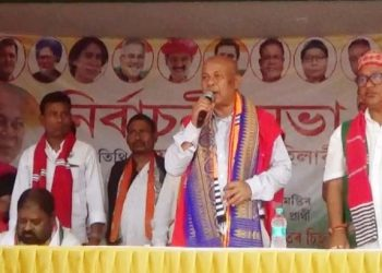 Mohilary urged the tribal community voters to take a 'united stand' and elect a Congress-led alliance in order to protect their ethnic identity.