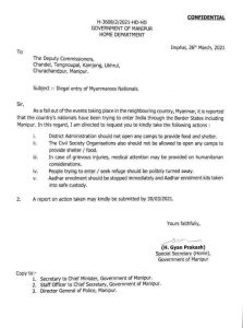 Manipur government withdraws 'no food and shelter' to Myanmarese nationals order 2
