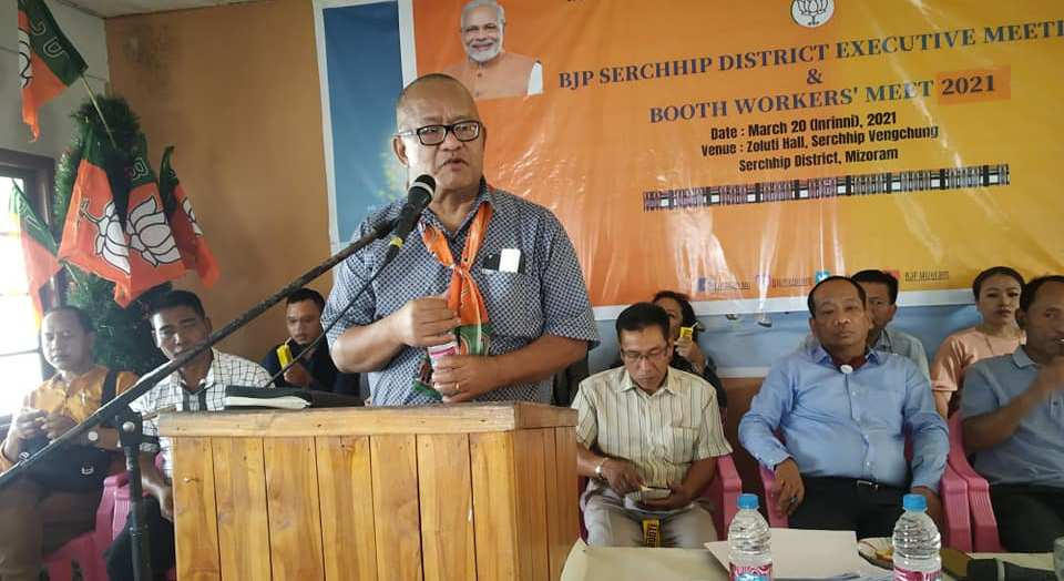 State BJP president Vanlalhmuaka announcedChhangteas the party official candidate for the upcoming bypoll.