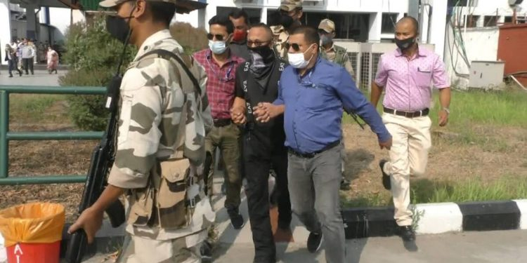 Separatist leader Narengbam Samarjit was brought back to Imphal on Monday by the NIA.