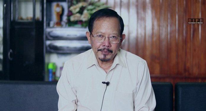 Mizoram home minister Lalchamliana.