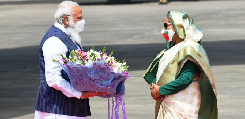 PM Narendra Modi on Friday reached Dhaka with the 'mission' to garner electoral support.