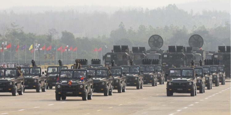 Myanmar military parade