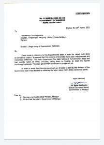Manipur government withdraws 'no food and shelter' to Myanmarese nationals order 1