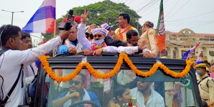 Assam Assembly election: Congress MLA Rupjyoti Kurmi, 15 others file nominations in Jorhat 1