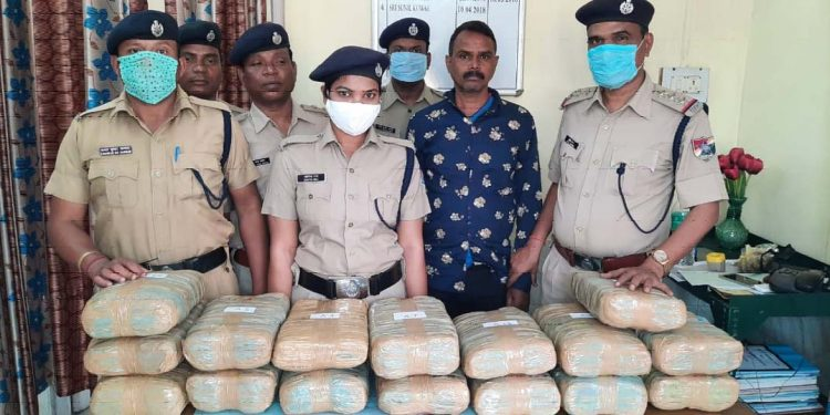 Smuggled goods recovered by RPF
