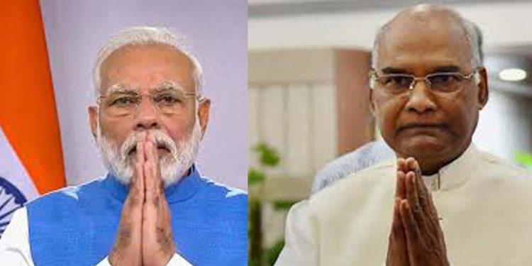 PM Narendra Modi (left) and (right) President RN Kovind.