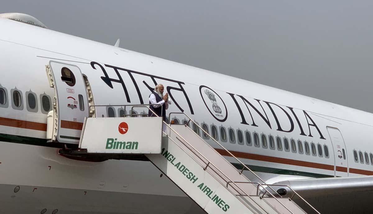 PM Modi on VVIP aircraft