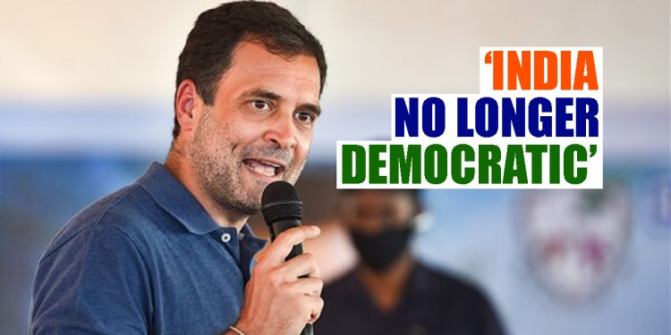 Authoritarian forces chaining India, says Congress leader Rahul Gandhi 1