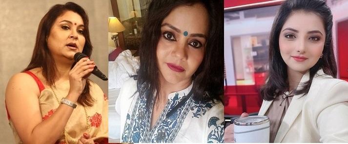 News Live CMD Riniki Bhuyan Sharma, India TV anchor Archana Singh, ABP News anchor Astha Kaushik.