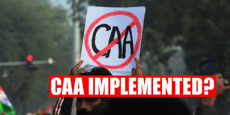 CAA implemented even before being passed? 1