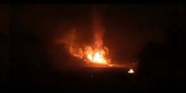 fire in Saitual district