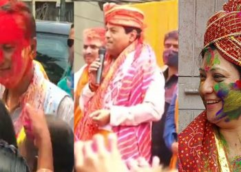 Assam Assembly elections: Holi fervour grips campaigning, leaders celebrate festival of colours with general public 1