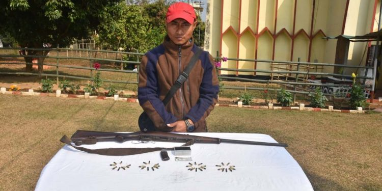 One person held with arms in Nagaland