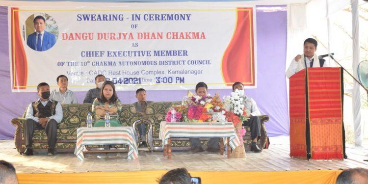 Mizoram: Durjya Dhan Chakma sworn-in as CADC CEM 1