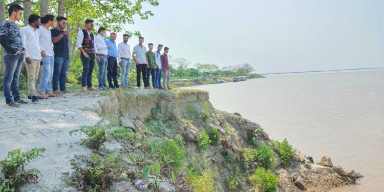 AASU leaders visiting Nimatighat