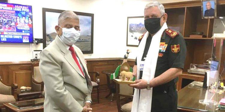 Arunachal Pradesh Governor BD Mishra with CDS