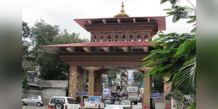 Bhutan gate at Phuentsoling.