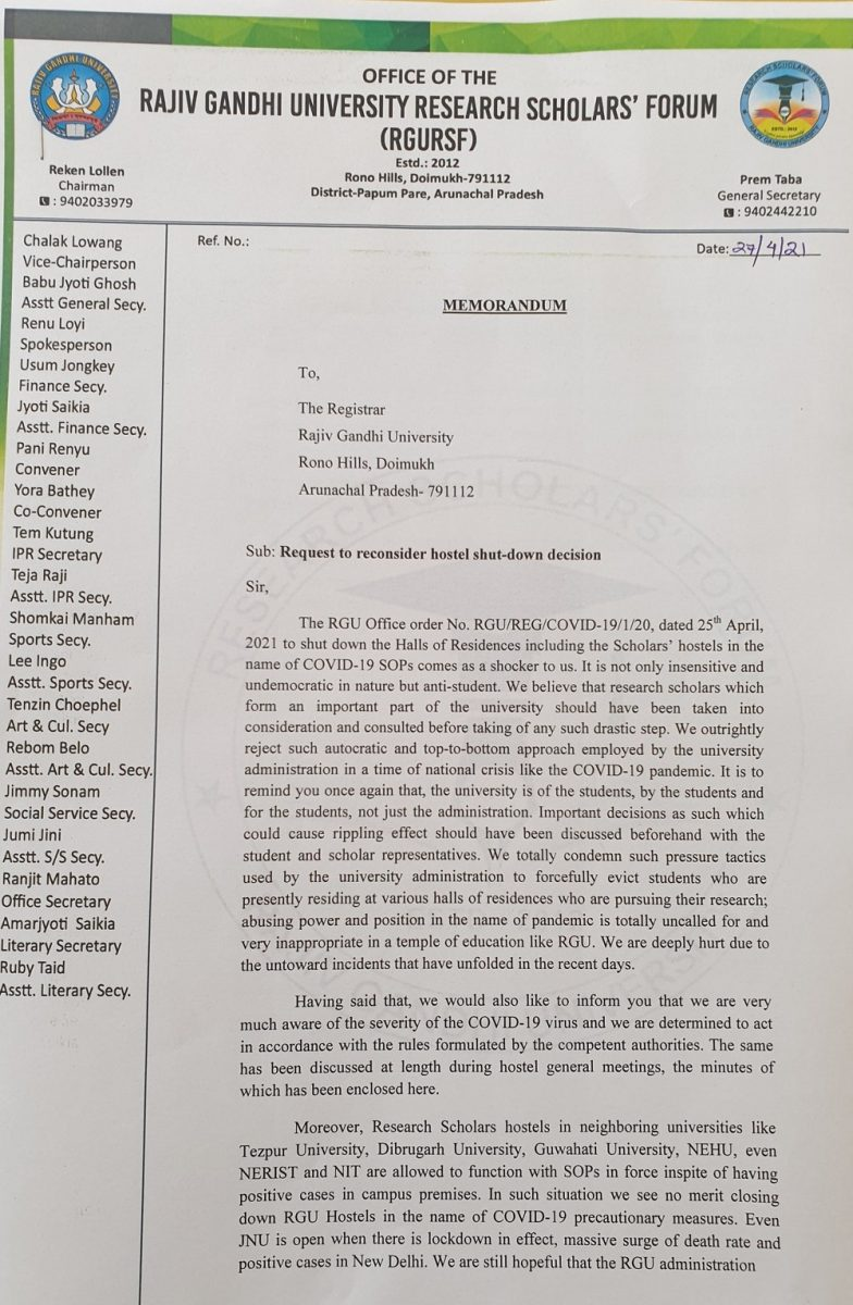 Arunachal Pradesh: Rajiv Gandhi University scholars and students protest against notice to vacate hostels 5