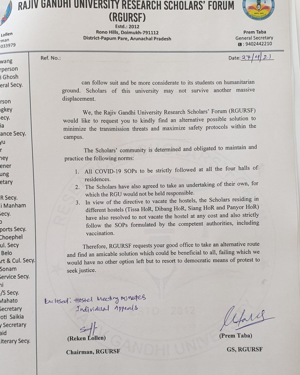 Arunachal Pradesh: Rajiv Gandhi University scholars and students protest against notice to vacate hostels 6