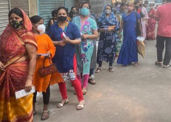 Amid raging COVID-19 pandemic, voting begins for last phase of West Bengal Assembly elections 1